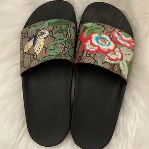 Gucci GG floral slippers